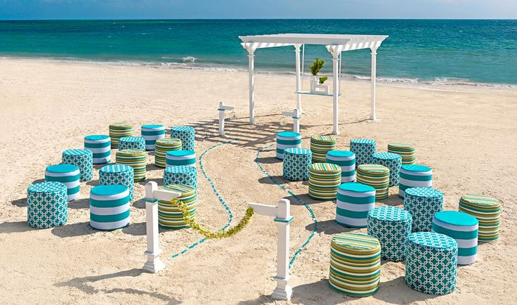 Hard Rock Hotels Seaglass collection perfect for beach ceremonies Liz Moore Weddings loves the colours