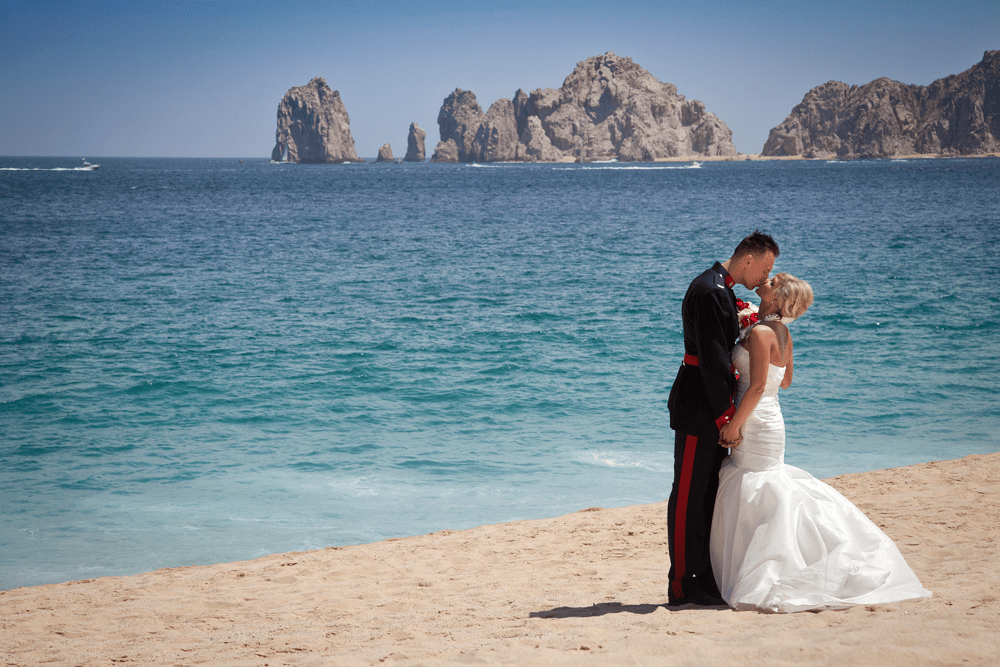 Los Cabos Mexico Liz Moore Weddings beach Wedding Couple