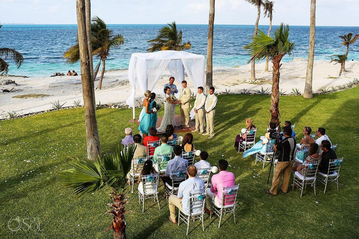 Mexico wedding destination Cancun Riu Palace Peninsula