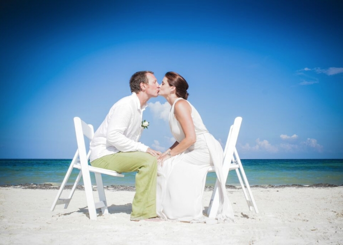 Mexico destination wedding Moon Palace Cancun Sunrise