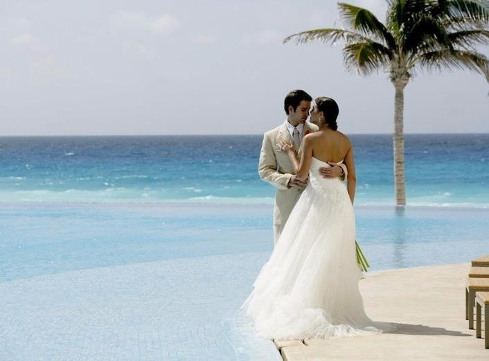 Mexico weddings on the beach Le Blanc Spa Resort Cancun