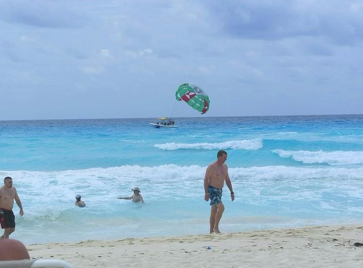 Beach Palace Cancun Parasailing