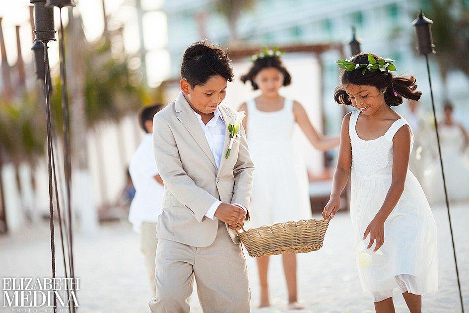 Children in wedding picture by Elizabeth Medina