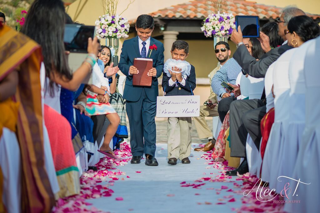 Ring Bearers are very adorable coming up the aisle