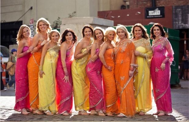 4colorful-bridesmaids-sarees