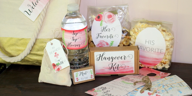 What should be in my destination wedding welcome bag for Destination wedding gift bags