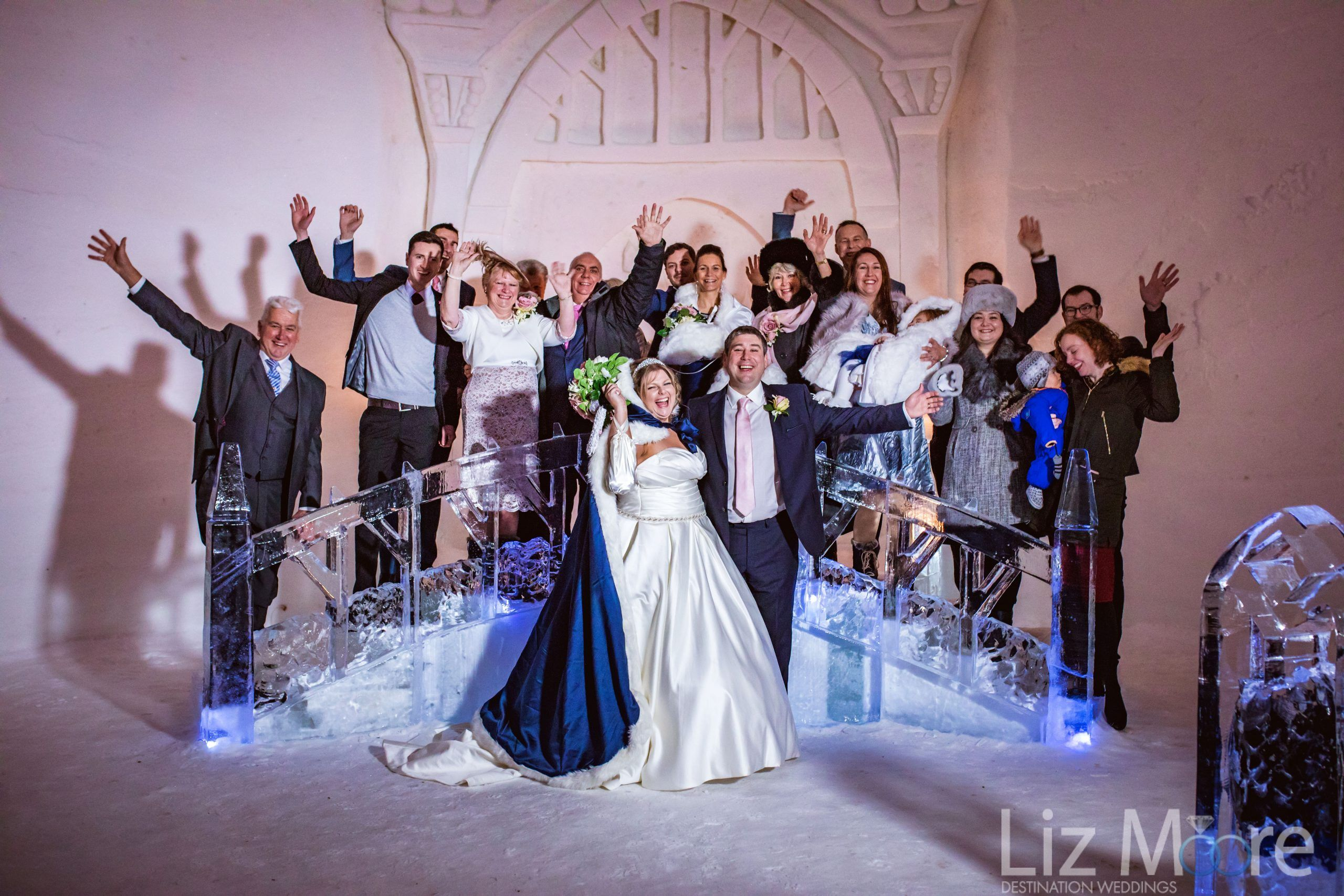 Unforgettable Iconic Ice Castle Wedding