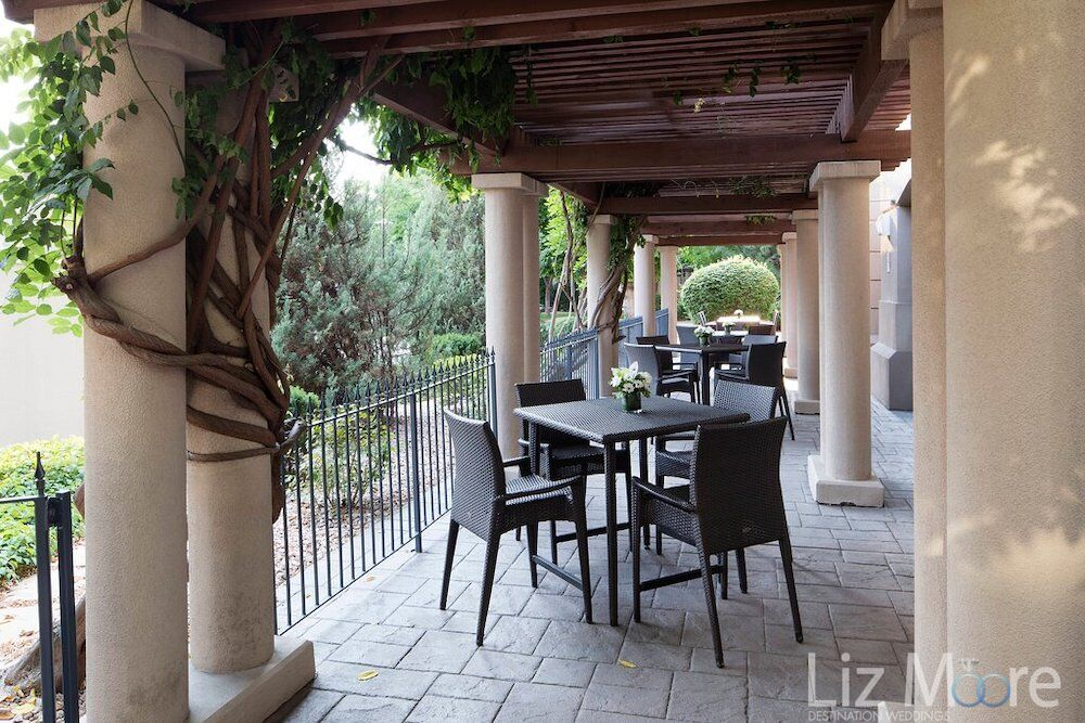 mt boucherie patio terrace located outdoors with tables and chairs and the views of the gardens and grounds